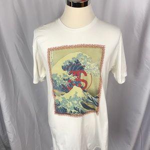 Stussy 90's short sleeve tee shirt surfing Asian L
